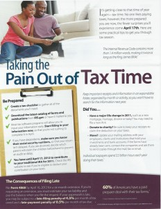 Taking the Pain Out of Tax Time