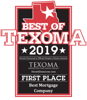 Best of Texoma 2019 First Place Best Mortgage Company
